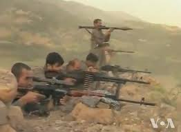 Kurd War Front Photo Credit: PJAK fightersPublic Domain Voice of America - http://youtu.be/j5W05Ijp5Yw